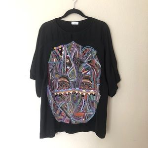 Dries Van Noten Abstract Embroidered Face Blouse
